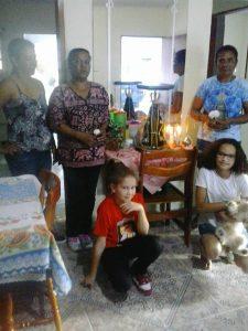 Visita nas casas comunidade São Benedito