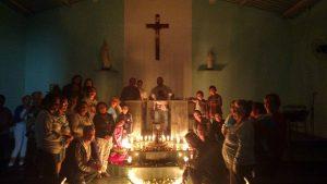 Comunidade N. Sra. do Cenáculo, acolhe com alegria a imagem peregrina.